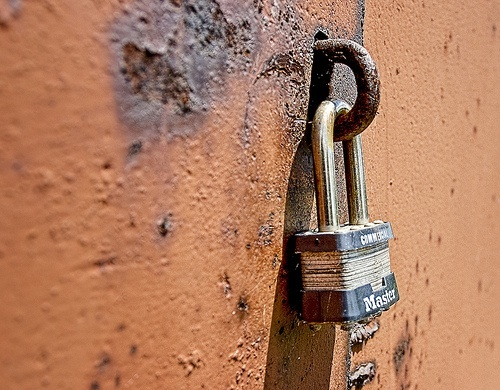 Get a good pad lock to secure important documents in a storage unit