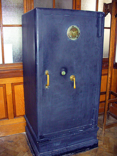 An old safe in a museum